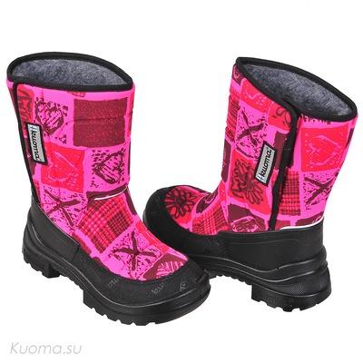 Зимние сапоги Tarravarsi, цвет Neon Pink Hearts