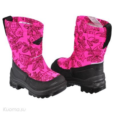 Зимние сапоги Putkivarsi, цвет Neon Pink Owl